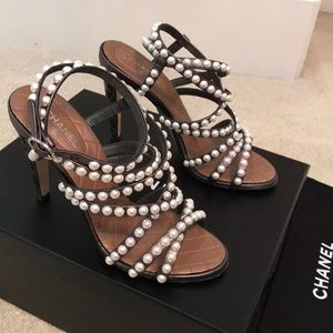 Chanel pearl sandals